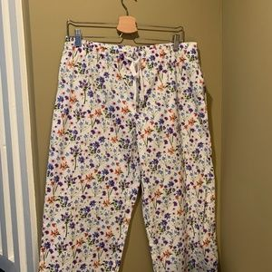 Gap Floral Poplin Cotton Sleep Lounge Pants NWT
